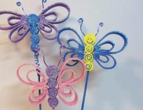 Como fazer enfeites de borboleta 006