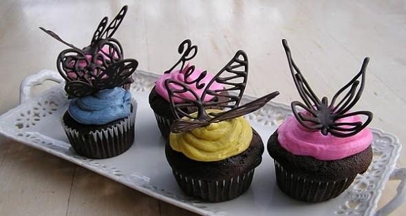 Como fazer enfeites de borboleta 011
