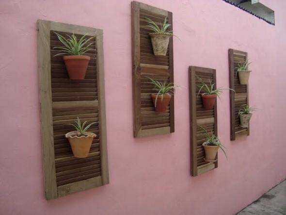 Reciclando janelas antigas de madeira for Ideas para decorar la casa reciclando