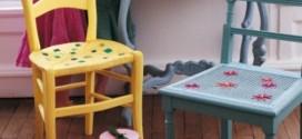 Artesanato com cadeiras antigas