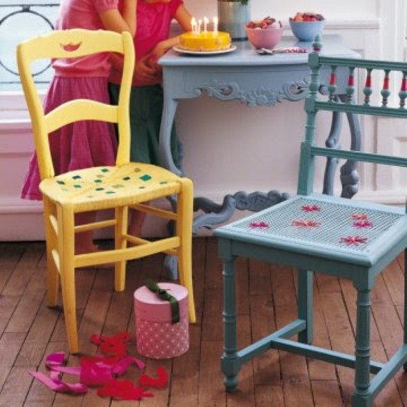 Artesanato com cadeiras antigas 008