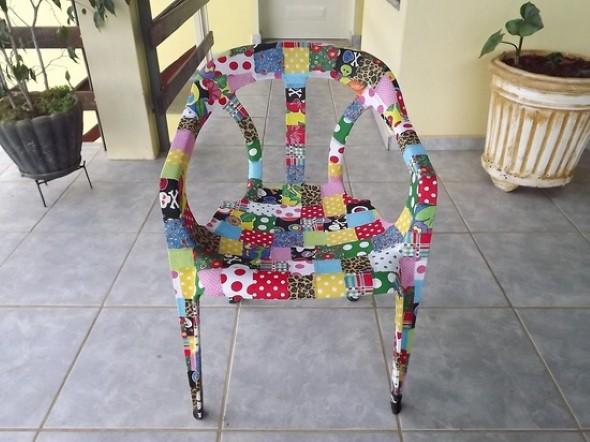 Artesanato com cadeiras antigas 009