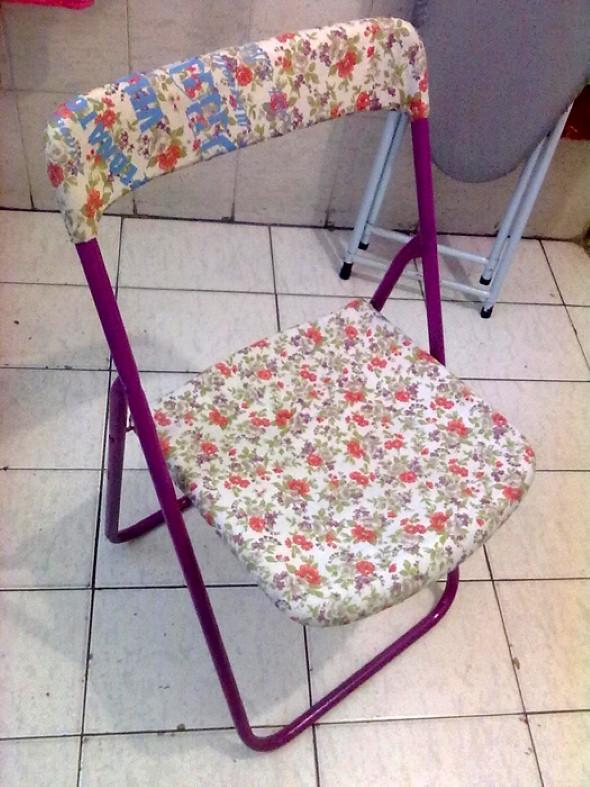 Artesanato com cadeiras antigas 013