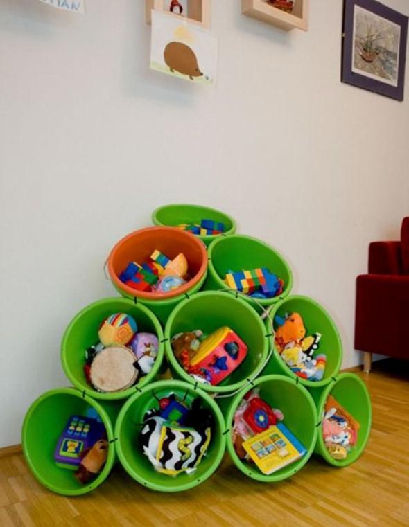 Organizadores artesanais para o quarto das crianças 002