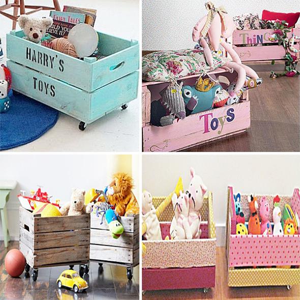 Organizadores artesanais para o quarto das crianças 013