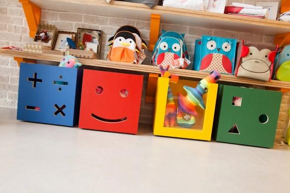 Organizadores artesanais para o quarto das crianças 017