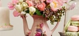 Vasos de flores artesanais e criativos