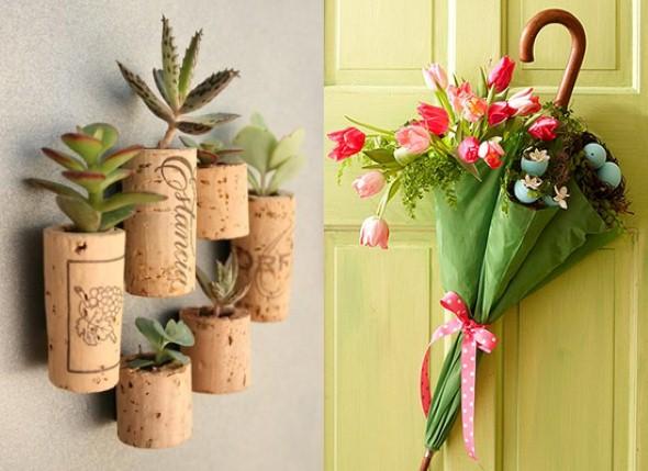 Vasos de flores artesanais e criativos 004