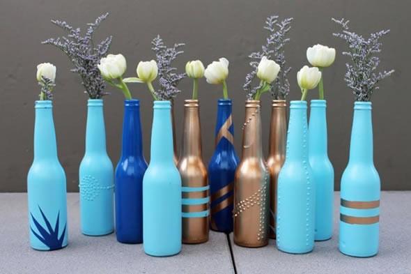 Vasos de flores artesanais e criativos 008