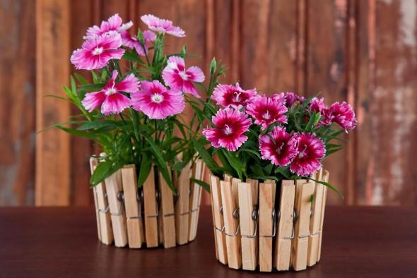 Vasos de flores artesanais e criativos 009