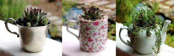 Vasos de flores artesanais e criativos 010