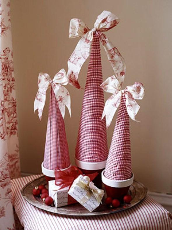 Artesanato com cones de papelão 003