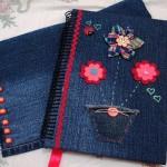 Artesanato com jeans usado 001