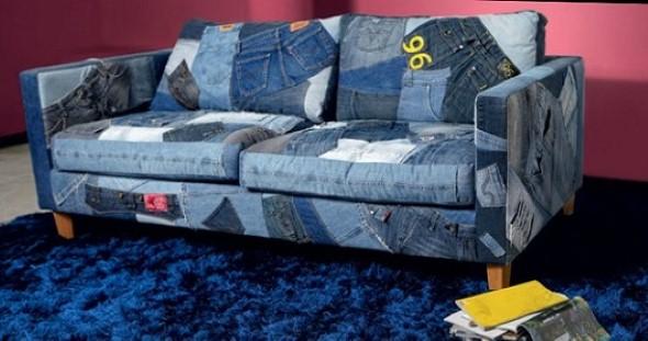 Artesanato com jeans usado dicas e modelos criativos for Sofa reciclado