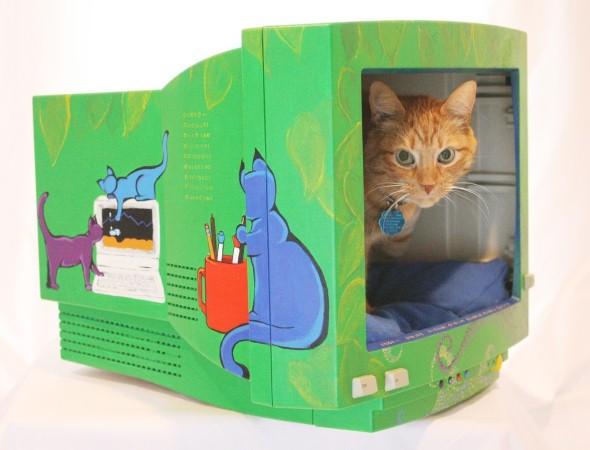 Cama artesanal para animais de estimação 010