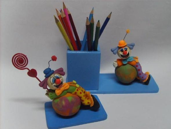 Porta lápis artesanal 002