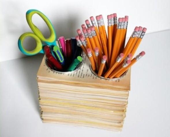 Porta lápis artesanal 004