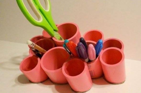 Porta lápis artesanal 012