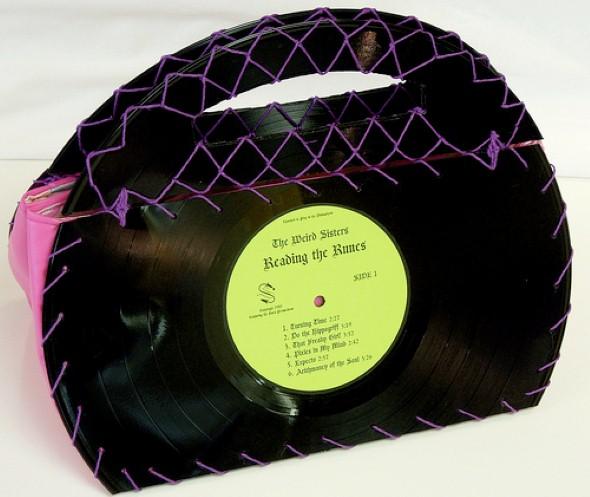 artesanato com discos de vinil 003