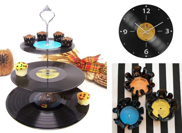 artesanato com discos de vinil 009