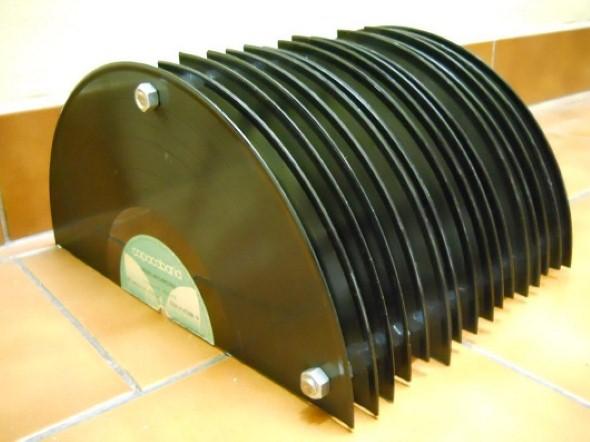 artesanato com discos de vinil 010