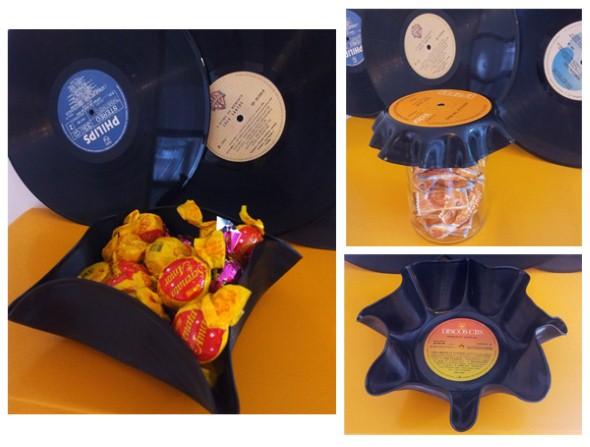 artesanato com discos de vinil 012