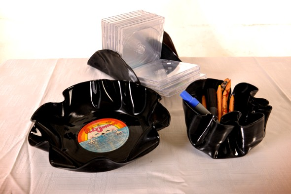 artesanato com discos de vinil 013