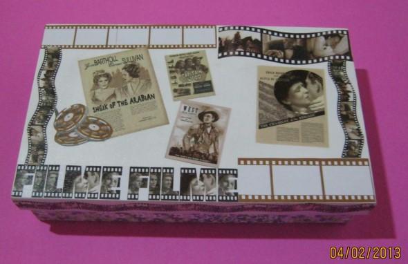 Artesanato com recortes de jornais, fotos e revistas 001