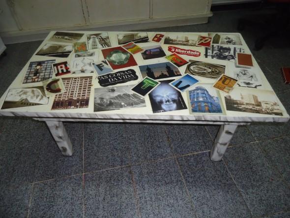 Artesanato com recortes de jornais, fotos e revistas 003