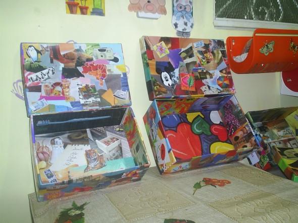 Artesanato com recortes de jornais, fotos e revistas 013