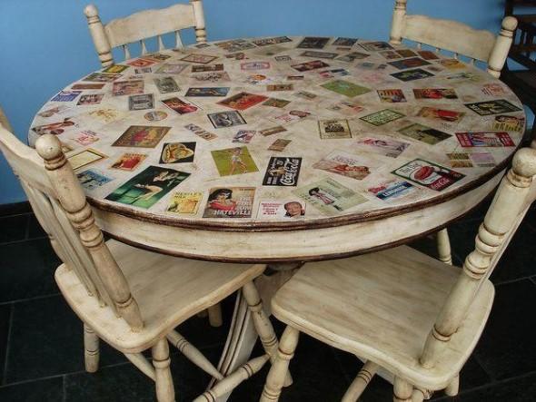 Artesanato com recortes de jornais, fotos e revistas 014