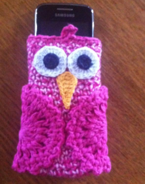 Como fazer porta celular de crochê 001