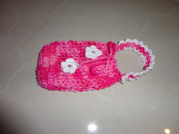 Como fazer porta celular de crochê 002