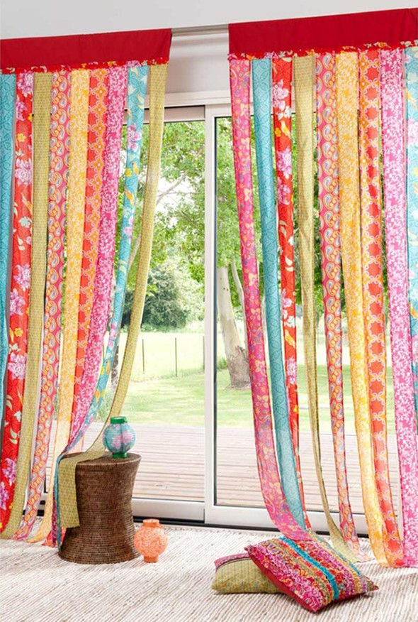 Como fazer cortina artesanal criativa em casa - Diferentes modelos de cortinas para sala ...