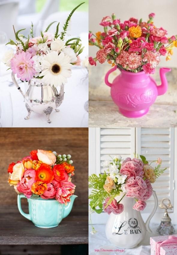 Vasos feitos com bules e chaleiras antigas 012