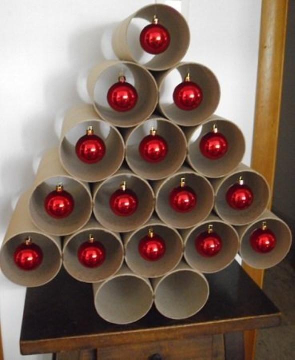 Árvore de Natal de material reciclado 008