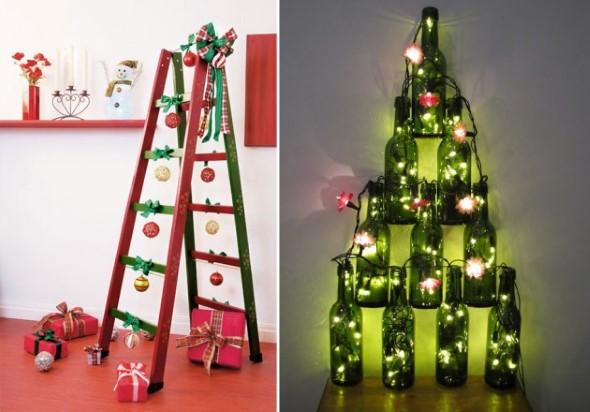 Árvore de Natal de material reciclado 011