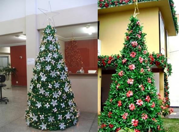 Árvore de Natal de material reciclado 012