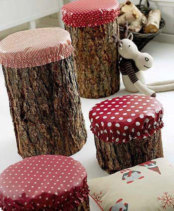 Artesanato com galhos e troncos 015