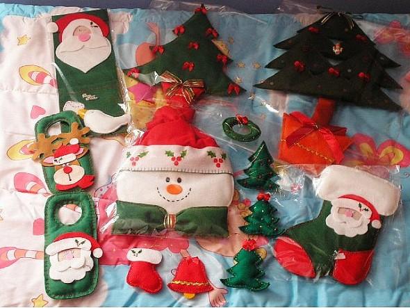 Artesanato natalino com feltro 008