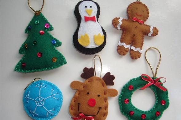 Como fazer enfeites natalinos 012