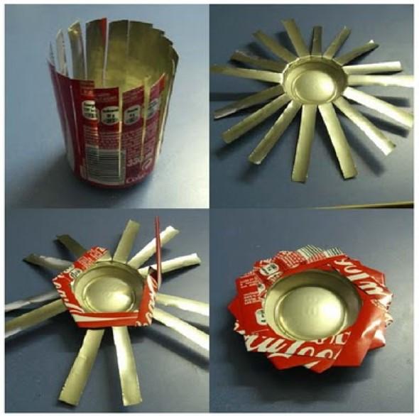 Artesanato com latinhas de alumínio 013