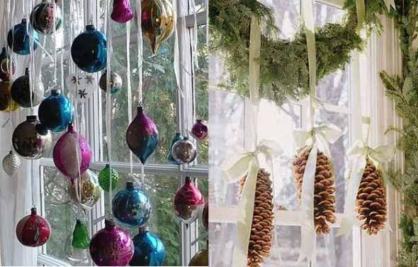 Armario Sala Jantar ~ Enfeites de janela para o Natal