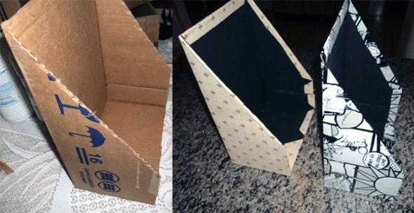 Reciclando caixas de papelão 005