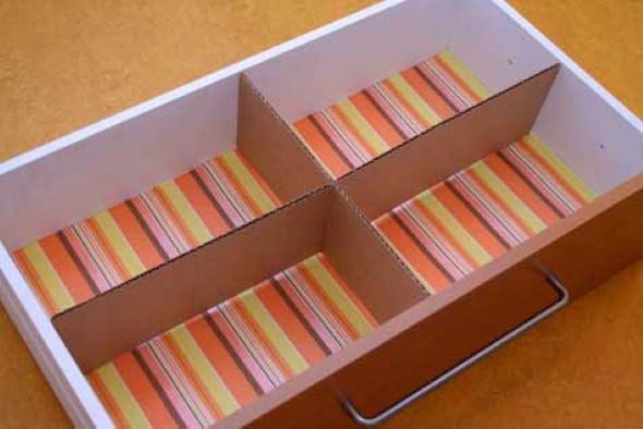 reciclando caixas de papel o 3 dicas e 15 modelos inspiradores. Black Bedroom Furniture Sets. Home Design Ideas
