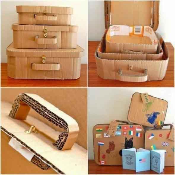 Reciclando caixas de papelão 012