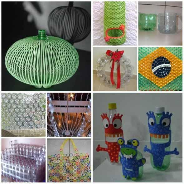 Armario Lavanderia Mdf ~ 15 dicas criativas de artesanato com garrafas pet