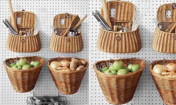 Artesanato com cestos de vime 011