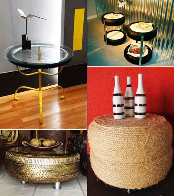 Artesanato com pneus – Reciclando com arte 004