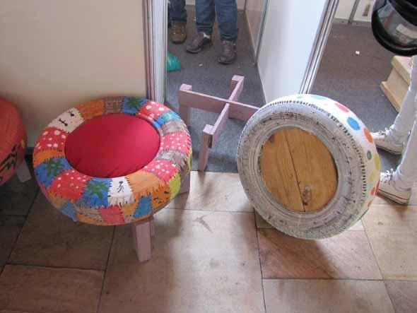 Artesanato com pneus – Reciclando com arte 010